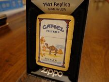 HAWAII CAMEL STATE COLLECTORS PACK BRUSH BRASS ZIPPO LIGHTER 2010