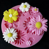 3D Flower Silicone Mold Fondant Cake Decorating Chocolate Sugarcraft Mould DIY