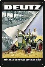 Deutz Tractor factory embossed metal sign 30cm x 20cm (na)