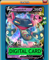 Dragapult V - 092/192 Rebel Clash PTCGO Online Digital Card