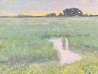 New Signed Landscape Marsh Original Oil Painting Impressionist tonalism Art