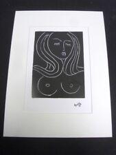 """MATISSE HENRI - REPRODUCTION GRAPHIQUE DE 1987 D'1 OEUVRE DE 1944  """"VISAGE 5"""" /6"""