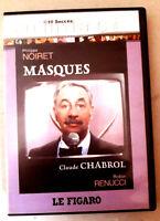 MASQUES - Claude CHABROL / Philippe NOIRET - dvd (le Figaro) Très bon état