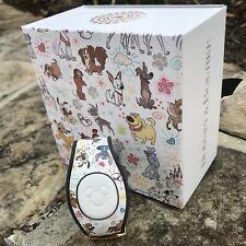 Disney Dooney and Bourke Sketch Dogs Magic Band Gold Slider New In Hand 2020 LR