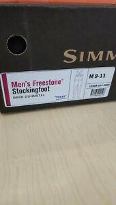 SIMMS Freestone Stockingfoot Chest Waders Medium 9-11 Dark Gunmetal - FREE SHIP!