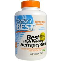 Doctor's Best High Potency Serrapeptase 120,000 SPUs 270 Veggie Capsules Caps