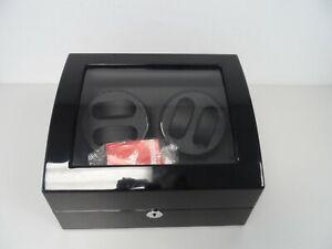 Black Gloss Triple Tree Advance Watch Winder & storage Box  F22