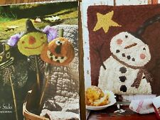 2 Rug Hooking Patterns Torn From Magazines