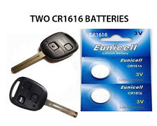 2 NEW LEXUS IS200 IS300 IS220D GS300 BUTTON REMOTE KEY FOB BATTERIES CR1616