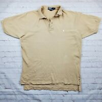 Polo Ralph Lauren Men's Large Polo Golf Shirt Tan Vintage