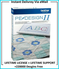 Brother PE Design 11 ⭐Full Version ⭐ Embroidery Sew Software ⭐ + 1 Year Warranty