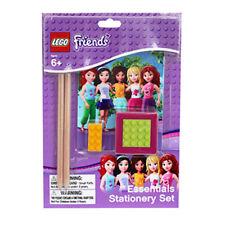 Lego Friends esenciales Set Papelería-Goma de borrar, portátil, sacapuntas y 2 Lápices