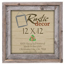 """12x12 - 2"""" Wide Signature Reclaimed Rustic Barn Wood Wall Frame"""