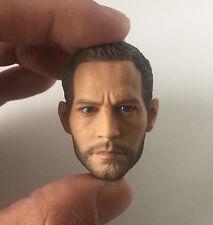 █ Custom Paul Walker 1/6 Head Sculpt for Hot Toys Narrow Shoulder Muscular Body