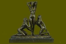 HandcraftedThree Friends bronze 3 Graces Girls Females Sculpture Erotic Ef