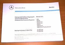 Nouveau Mercedes-Benz bildkatalog w201 à 9/88