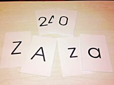 Classroom Flashcard Set - 78 Large Flash Cards - Pre-school - Abc & Numbers