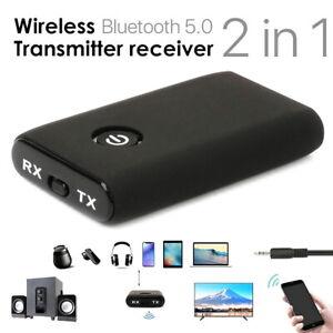 Wireless Bluetooth 5.0 Transmitter & Receiver A2DP Audio 3.5mm Jack Aux Adapter