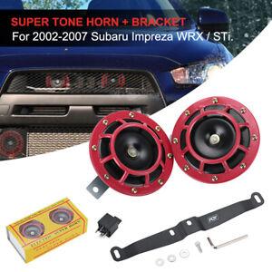 Black Bracket Performance Dual Hella Horn For 2002-2007 Subaru Impreza WRX/STI