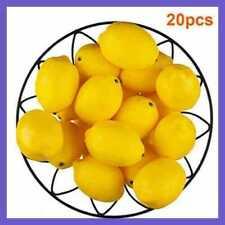 20Pcs Creative Mini Artificial Fake Fruit Yellow Green Lemons Simulation Decor