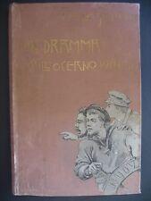 EMILIO SALGARI PRIMA EDIZIONE 1895 UN DRAMMA SULL'OCEANO PACIFICO BEMPORAD