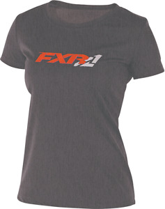 FXR WOMENS INFINITE ACTIVE T-Shirt - Charcoal/Electric Tangerine -Size  XL - NEW