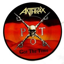 "EX! Anthrax Picture Disc Got The Time 7"" Vinyl Pic"