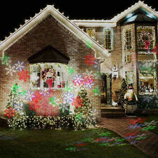RGB Moving Snowflake LED Laser Light Projector Landscape Xmas Garden Lamp Decor