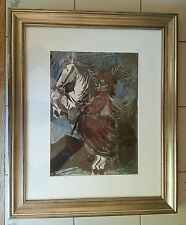 Picasso Woman on Horse I, 12.3.59. Lithography Prof. Museum Glassed Framed COA