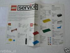 LEGO BROCHURE FLYER CATALOG TOYS 1992  PARTS SERVICE  DUTCH 6 PAGES 145