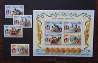 Jamaica 1984 Olympic Games Los Angeles set & Miniature Sheet MNH
