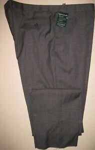 "NEW 46W  ~Ralph Lauren~ Ultraflex wool blend flat front dress pants 38"" unhemmed"