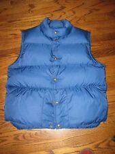 L.L. BEAN Men's L Goose Down Vest Dark Royal Blue EXCELLENT