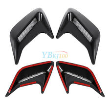 2x Car Decorative Air Scoop Intake Outlet Flow Cover Vent Bonnet DIY Black