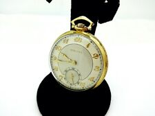 Vintage Bulova 14K Gf 10S Of 21J Pocket Watch,Runs,Clean,44Mm