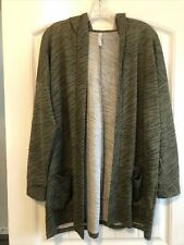 Lularoe Large Olice Green Tiger Cozy Mackenzie Hooded Cardigan