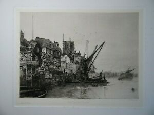 Charles Edward Holloway - Old Chelsea Church Etching, 1890