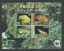 2009 PAPUA NEW GUINEA WWF FROGS MINIATURE SHEET FINE MINT MNH