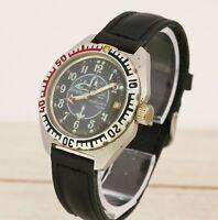 Vostok Wostok 2414 amphibia submarine captain diver military watch stainless!
