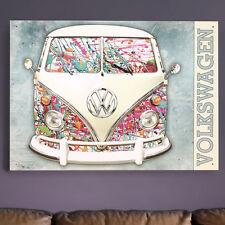 Volkswagen Campervan Metal Wall Paint Splat Screen VW Gift Licensed 30x40 50627