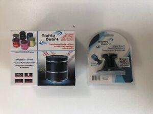Mighty Dwarf Mini Vibration Speaker Portable USB MP3 MP4 Pink + Glass Clamp