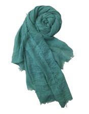 "Cotton Crinkle Hijab Scarf Soft Islam Muslm Maxi Viscose Shawl Sea Green 70""x35"""