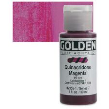 Golden® Fluid Acrylics 1oz. Quinacridone Magenta - 1 oz 23051 Ser 7 NEW