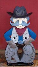 Regal Art & Gift Handcrafted Metal Art Cowboy Lantern Yard Art (Over 4ft high)