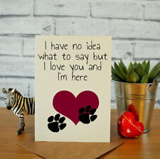 Pet loss card, sympathy card, sorry for the loss of your dog, cat, pet sympahthy
