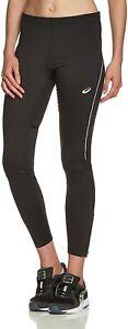 Asics Women's Running Tights Thermal Winter Full Length Tights - Black - New