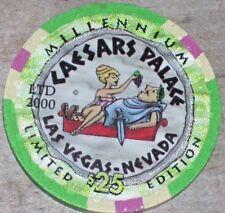 $25 LTD MILLENNIUM 2000 GAMING CHIP CAESARS PALACE CASINO LAS VEGAS NV