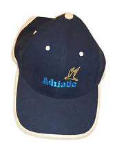 Mens Embroidered Adriatic Strapback Cap (One Size) Navy/White D4621