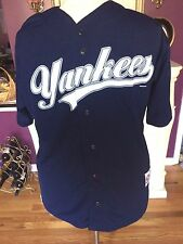 Derek Jeter Jersey #2 True Fan Authentic  Blue/White   Size XL  (NNTGS)