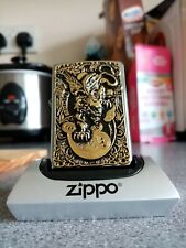 💥LAST IN STOCK💥Golden devil dragon zippo NEW 2020 STAND NOT INCLUDED ON SALE